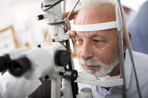 Doctor Checking Patient's Eyes for Glaucoma